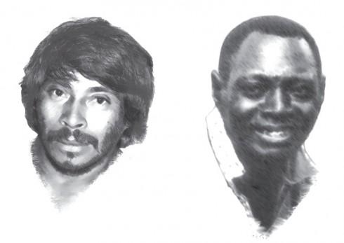 Capi et Domingo portrait dessin noir et blanc