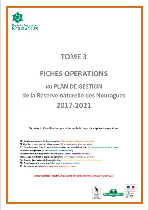 Couverture Tome 3 du Plan de Gestion