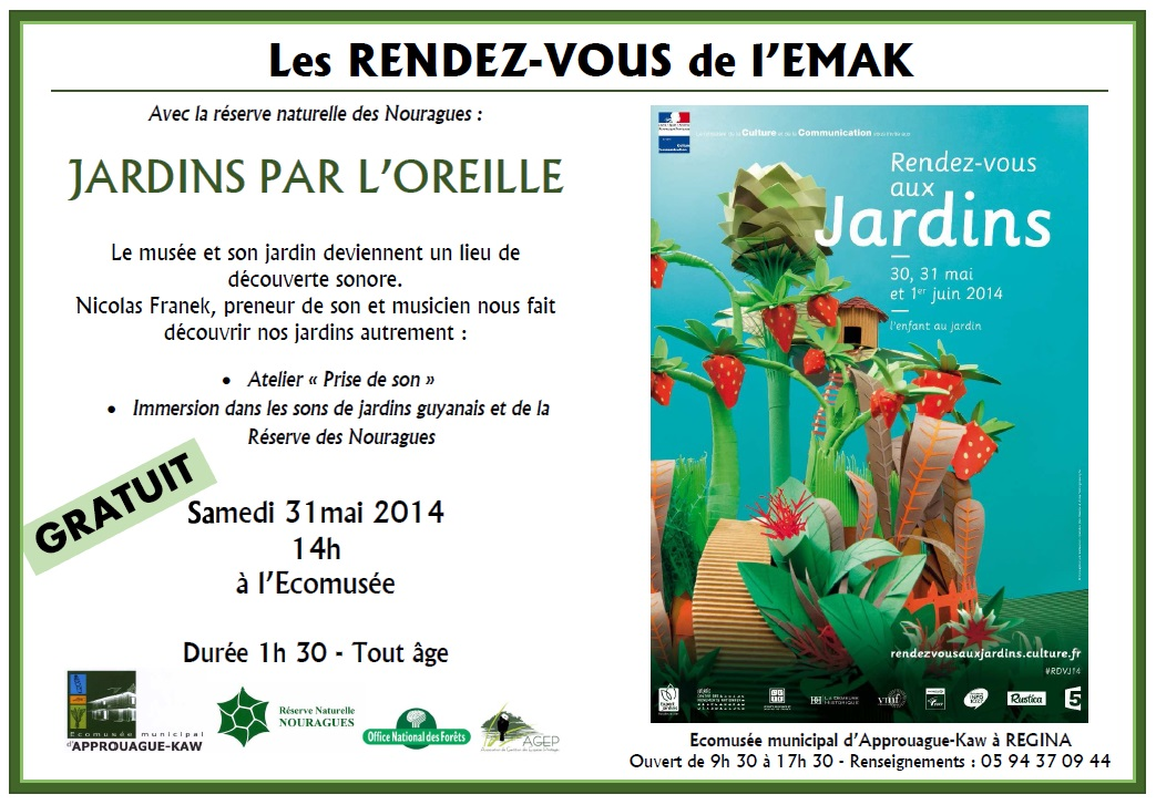 RDV aux Jardins Regina -EMAK-RN Nouragues