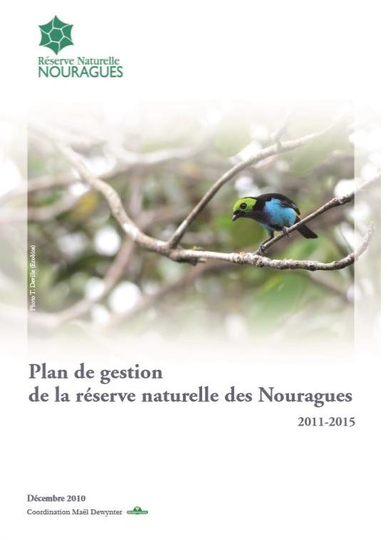 Couverture du Plan de Gestion de la réserve naturelle des Nouragues