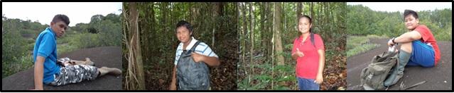 Photo des 4 stagiaires de 3ème accueillis aux Nouragues